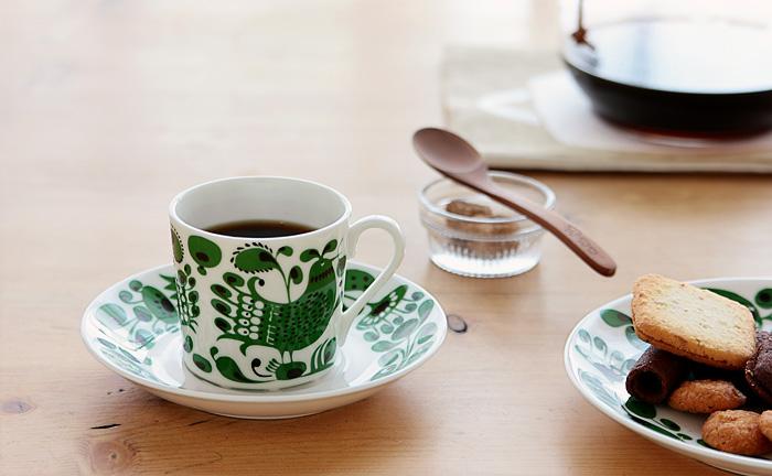 【復刻版】Gustavsberg/グスタフスベリ/TURTUR/チュールチュール/コーヒーカップ&ソーサー
