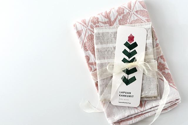 ラプアンカンクリのリネン・コットン製品をご購入の方に、2019年母の日限定のオリジナルカードをお付けいたします!