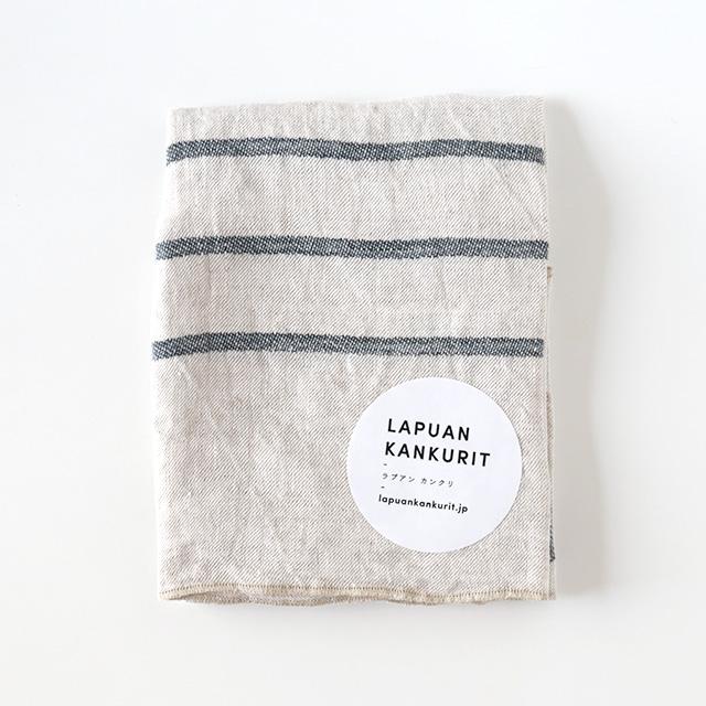 LAPUAN KANKURIT/ラプアンカンクリ/ウォッシュドリネンハンカチ/USVA(グレー)