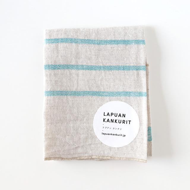 LAPUAN KANKURIT/ラプアンカンクリ/ウォッシュドリネンハンカチ/USVA(ターコイズ)