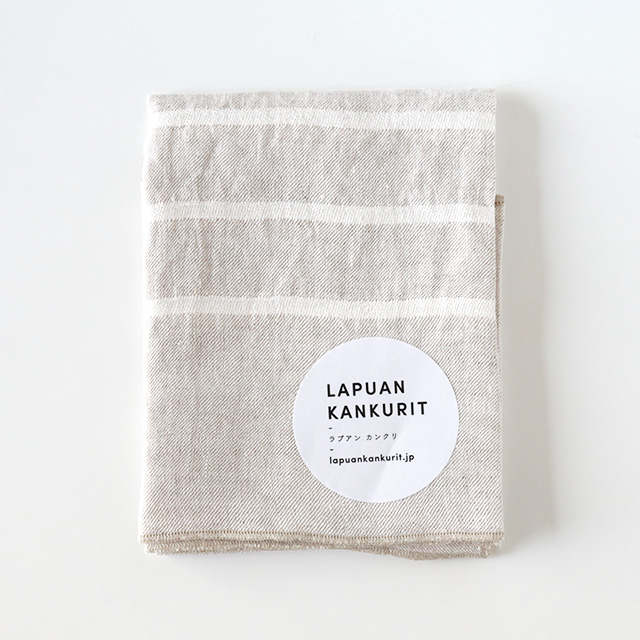 LAPUAN KANKURIT/ラプアンカンクリ/ウォッシュドリネンハンカチ/USVA(ホワイト)
