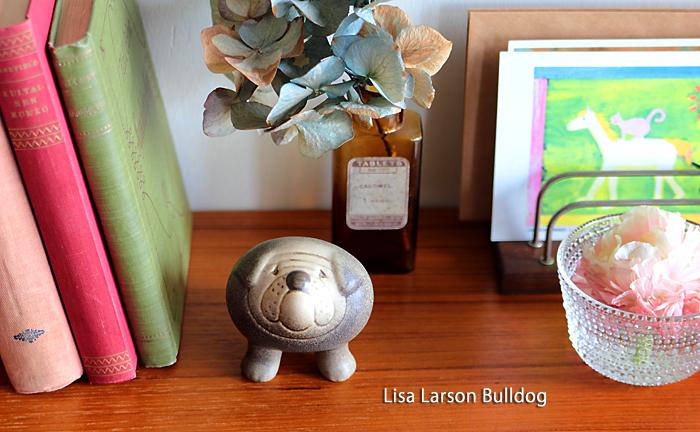 Lisa Larson/リサ・ラーソン/オブジェ/ブルドッグ S/グレー