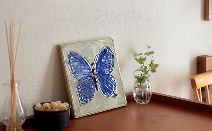 Lisa Larson/リサ・ラーソン/FJARILSPLATTOR/蝶の陶板