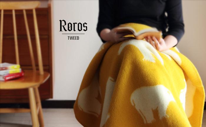 Roros TWEED/ロロスツイード/ブランケット/シロクマ/Isbjorn/アイスビヨン/ミニ(135×110cm)