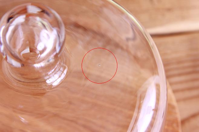 ガラス部分の気泡
