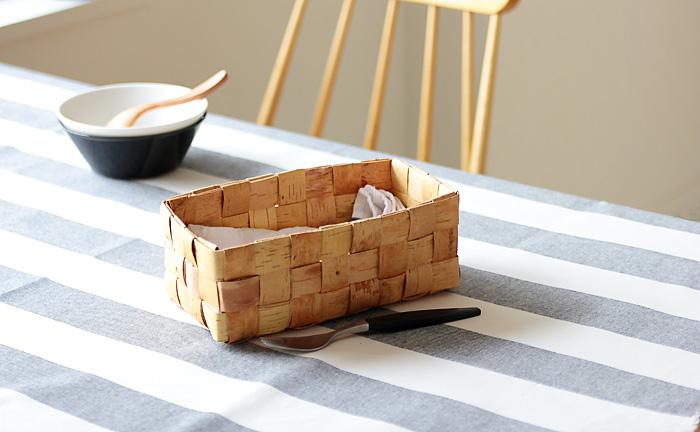 フィンランド/白樺のかご/長方形のかご・S