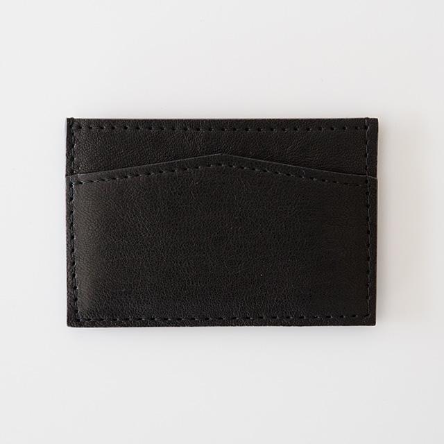 TIRONE/カードケース[ラム革×ヌメ革](ブラック)