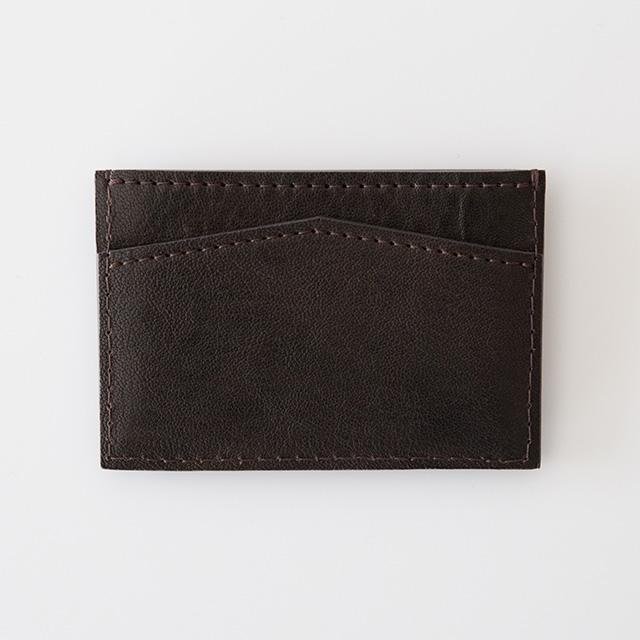 TIRONE/カードケース[ラム革×ヌメ革](ブラウン)