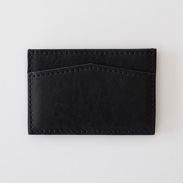 TIRONE/カードケース[ラム革×ヌメ革](ネイビー)