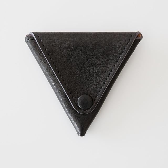 TIRONE/コインケース[ラム革×ヌメ革](ブラック)