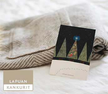 ラプアンカンクリ5,500円以上購入でクリスマスカードプレゼント!