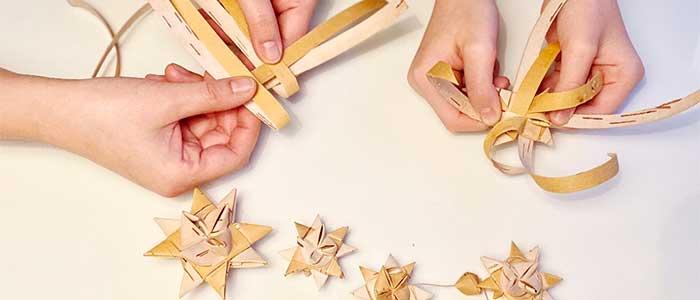 北欧手作りキット/白樺/星のオーナメント
