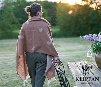 KLIPPAN/クリッパン/ウールブランケット・クッションカバー
