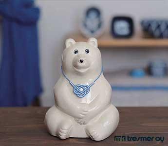 【数量限定】白くま貯金箱(2019年 水引付き) MK-Tresmer Polar Bear Money Box