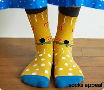 socks appeal/mogu takahashi/男女兼用ソックス
