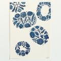 鹿児島 睦/ZUAN & ZOKEI/図案ポスター(B3)/5 BLUE DISHES