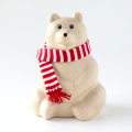 【数量限定】しろくま貯金箱(ボーダーマフラー付き) Polar Bear Money Box